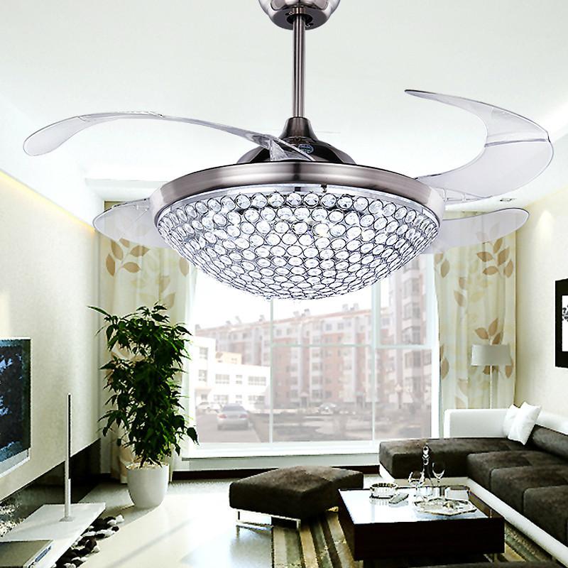 Chandelier Ceiling Fan : Popular ceiling fan crystal chandelier buy cheap