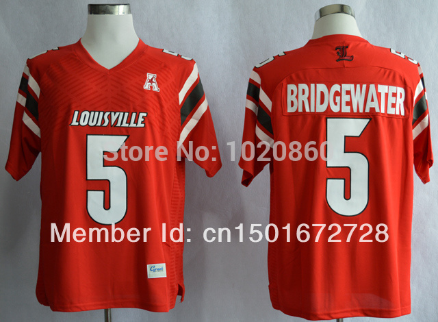 Limited time lowest price sale American college football #5 Teddy Bridgewater AAC Patch NCAA Football Authentic Techfit Jerseys(China (Mainland))