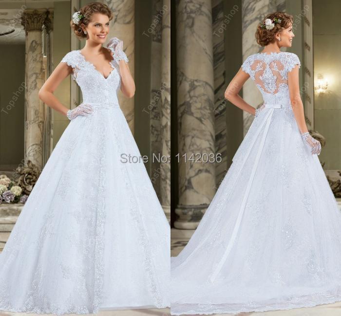 Buy lace wedding dresses 2016 elegant and for Elegant modest wedding dresses