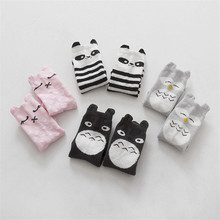 Cotton Dispensing Anti Slip Baby Socks High Quality  Knie Sokken Baby Socks Toddler Girls Boy Totoro Cartoon Tube Socks 0-4T(China (Mainland))