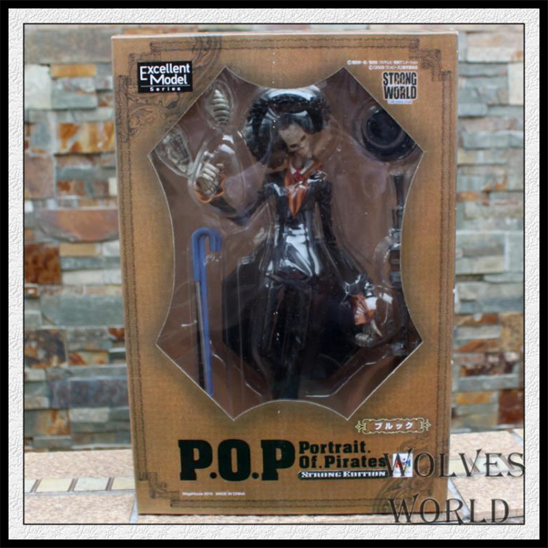 Japan One Piece New World Anime Figuarts Zero BROOK Action Figure PVC Boxed Model Movie Anniversary Limited Edition 0140(China (Mainland))