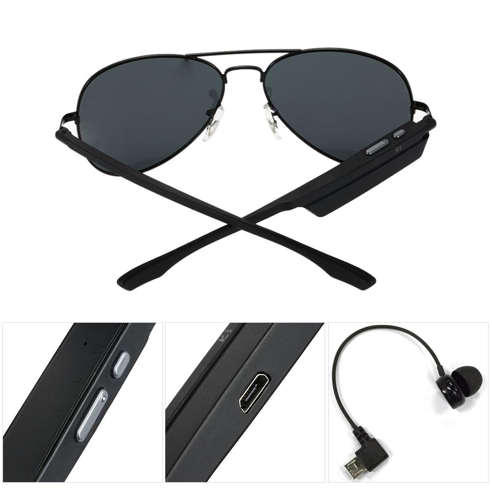 Bluetooth Wireless Sunglasses Wearphone Polarized Glasses Voice Control Phone Ca