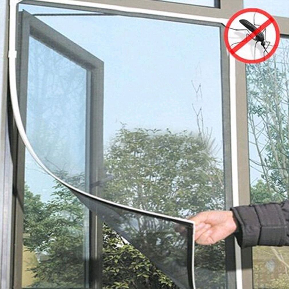 Diy insect fly bug mosquito net door window net netting for Window mesh screen