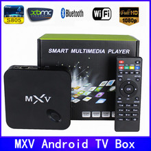 2015 New MXV tv box,android tv box,Kodi Pre installed Amlogic S805 Quad Core Android 4.4 better than cs918,Q7,M8,MX,Smart tv box(China (Mainland))