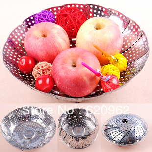 Min.order is $25 (mix order)  Retractable stainless steel plate folding adjustable multi-purpose steamer drain plate fruit plate