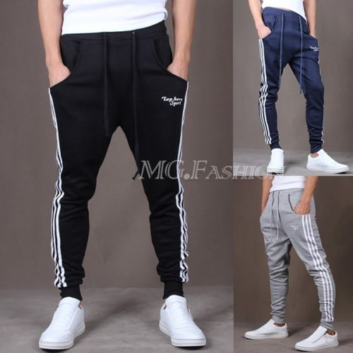Men Pants Spring 2015 Autumn Hip-hop Fashion Brand Jogger Sweat Harem Leisure Pants Slimming Pants with Free shipping(China (Mainland))