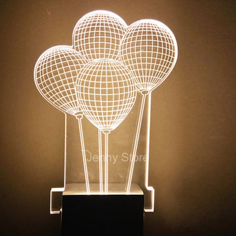 Modern Acrylic Carved Creative Balloons LED Bedroom Wall Lamp Living room Lights