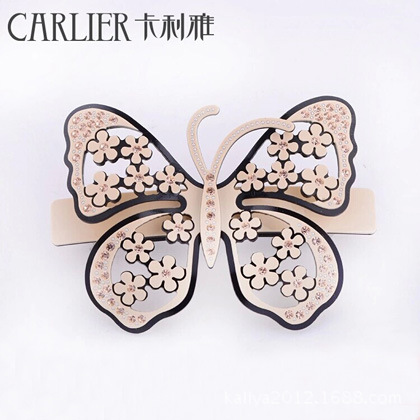 Ya hair lady Cali new listing acrylic pearl butterfly spring clip hair accessories manufacturers(China (Mainland))