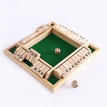 New Shut the Box Game Wooden Board Number Drinking Dice Toy Family Traditional Funny Game Toys Best Gift For Children Kids(China (Mainland))