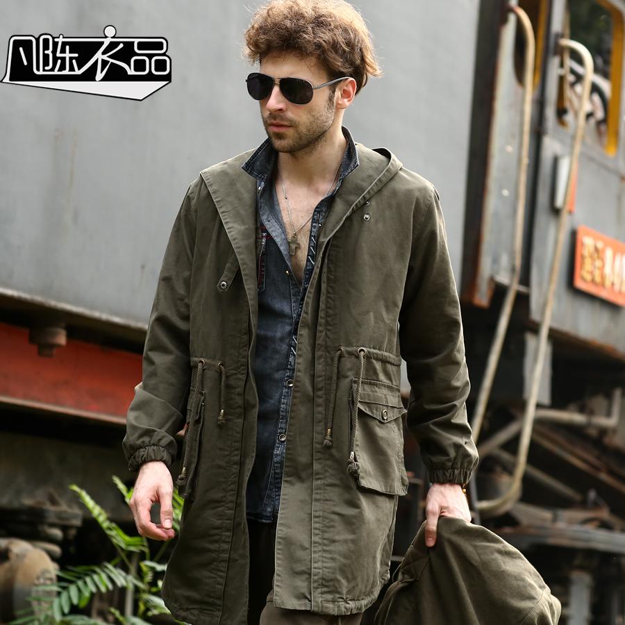 Здесь можно купить  All men long Chen Yipin windbreaker loose size outdoor windproof jacket winter Hooded Jacket  Одежда и аксессуары