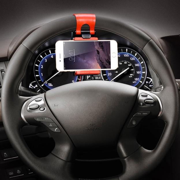 Universal Steering Wheel Navigation Car Socket Stand Holder Case for iPhone 6 6s plus 5 5s