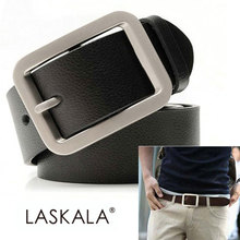 2013 Free Shipping New Men's Fashion Classical Leather cowskin Textured Metal Buckle Belt 4 Colors