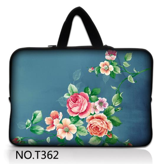 """China Rose Laptop Sleeve Case Bag +Hide Handle For 15"""" -15.6"""" HP Dell Samsung Acer(China (Mainland))"""