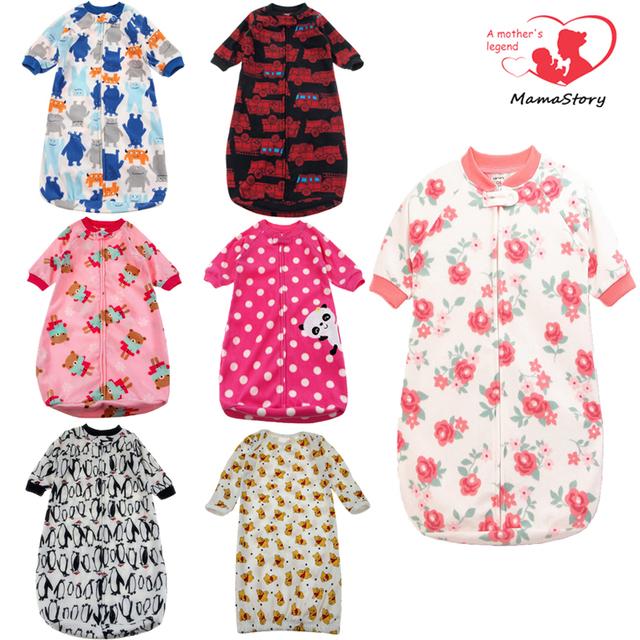 Флис ребенка спать мешок 0-9 М детские спальный мешок стиль Одежды спальные мешки ...