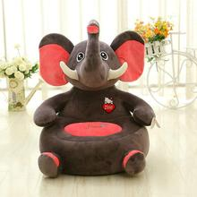 plush creative children sofa toy lovely gray cartoon elephant sofa toy gift about 50x45x15cm