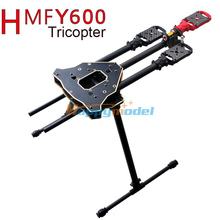 Newest FPV HMF Y600 3-Axis Tricopter Aircraft DIY Drone Frame with Landing Gear & Gimbal Kits Fast Shipping