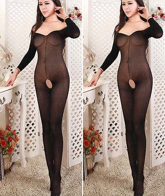 Women's Sexy Lingerie Leg Avenue Sheer Bodystocking One Size Black(China (Mainland))