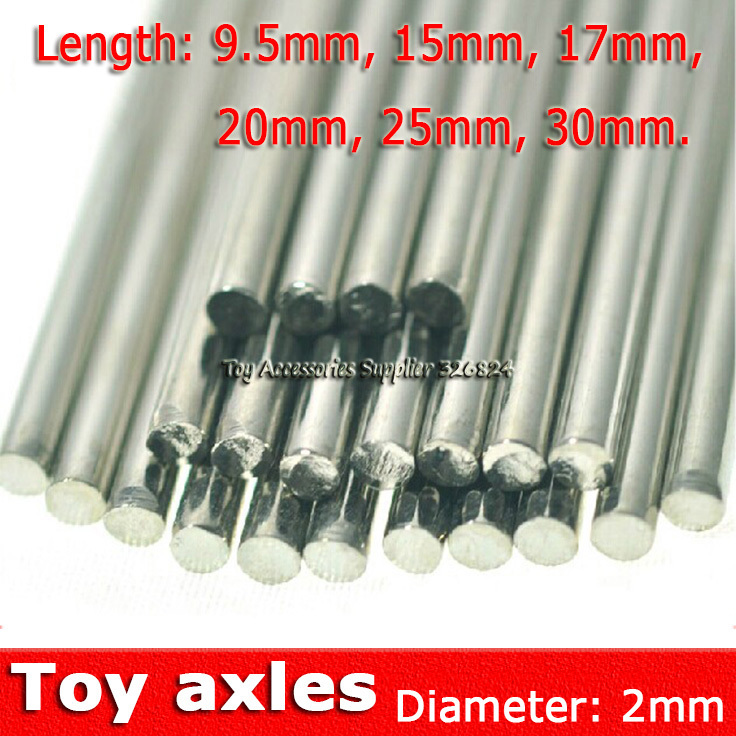 40pcs 2 mm Diameter Iron Axle driving gear model-making connecting shaft FREE SHIPPING Building Model Parts(China (Mainland))