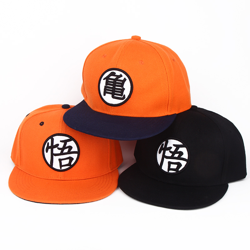 3 styles Cool cartoon Dragon Ball Z son Goku Orange summer baseball hat cospaly Anime Fashion Hip Hop hat for Men women GIFT(China (Mainland))