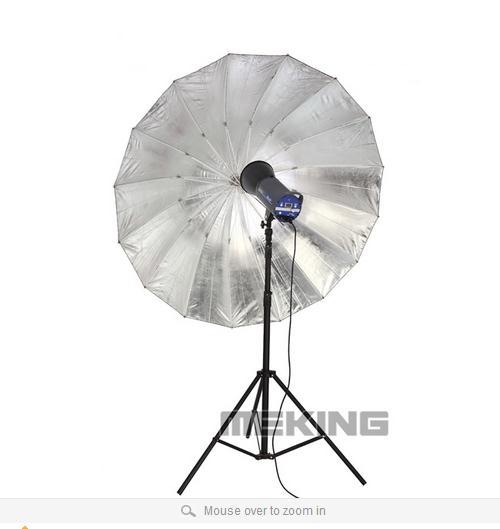 Selens Photo Studio Lighting Umbrella (Fibre Frame) 150cm/60 inch Black & Silver shooting umbrellas softbox photographic light - Photographic Equipment Home store