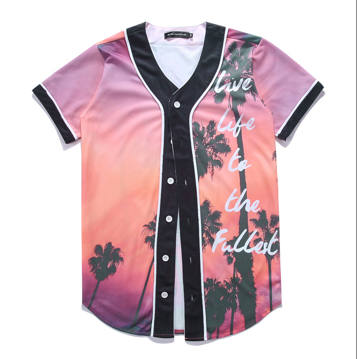 2017 Biggio McDabbin Fashion Design Shirt Asian Size Men's Cups live life to the fullest Streetwear Baseball Jersey Detroit(China (Mainland))