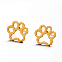 Multiple 2018 Fashion Minimalist Golden and Silver Stainless Steel Animal Cute Stud Earrings Carnations Jewlery for Women Gifts(China)