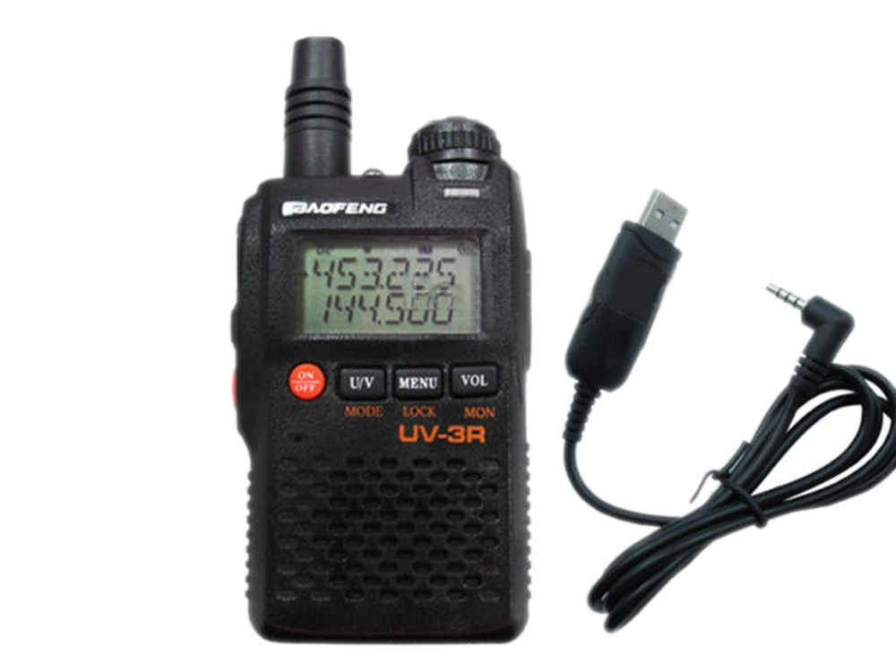 Walkie Talkie BAOFENG 3R 2 136/174/400/470 + USB UV-3R walkie talkie baofeng 3r 2 136 174 400 470 usb uv 3r