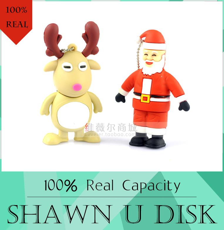 ew Santa Claus Cartoon USB Flash Drive 512GB Cute pendrive 16gb 8gb memoria usb stick pen drive 32gb usb2.0 Flash Card 128GB(China (Mainland))