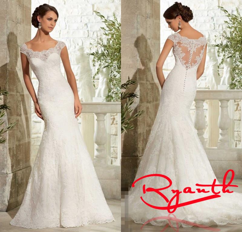 Vestido De Noiva Renda Custom Made Dress Bride Plus Size Lace Mermaid Wedding 2015 Robe Mariage Fast Shipping RBW537 - Miss Meeo Pressional Customize store