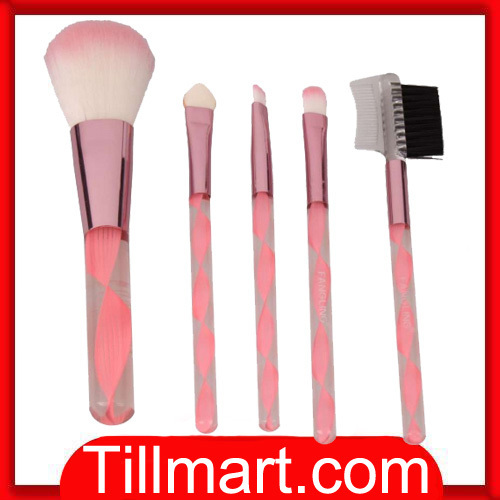 Free shipping on sale High quality 5pcs Professional Cosmetic Makeup Brush Set Pink 347C