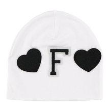 GZhilovingL ผ้าฝ้ายนุ่ม Letter Beanies หมวกสำหรับทารกแรกเกิดเด็กชายหญิง 2018 ฤดูใบไม้ร่วงฤดูหนาวเด็กวัยหัดเด...(China)