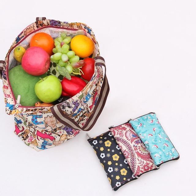 Женщины сумки большой емкости складной мешка открытый путешествия многоразовые складные ...