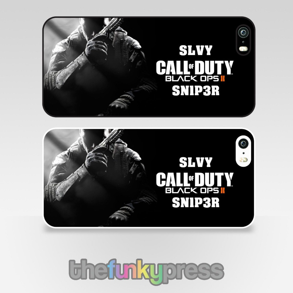 Call of Duty Black Ops 2 Hard Plastic Case for iPhone 5 (Black or White Side)(China (Mainland))