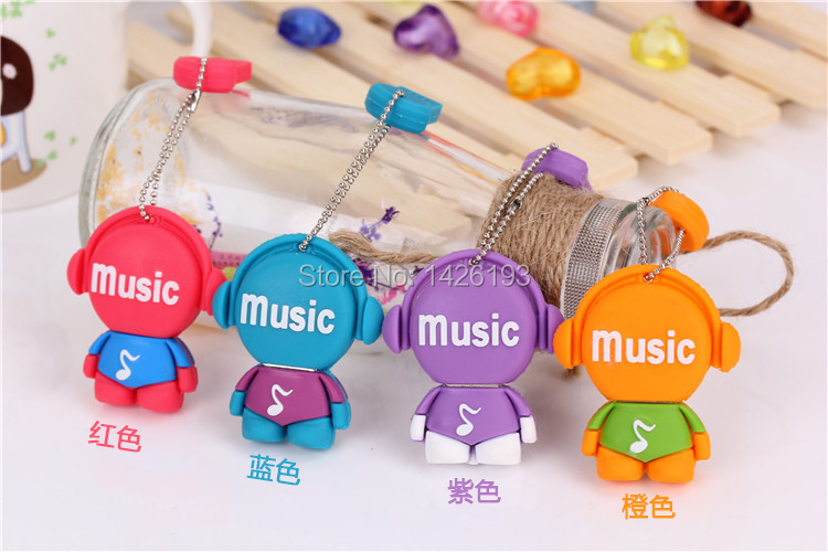 2015 Special Offer Cartoon Music Person 8GB USB Flash Disk Flash Memory Jump Drive U-Disk U Disck Pen Drive Free Shipping(China (Mainland))