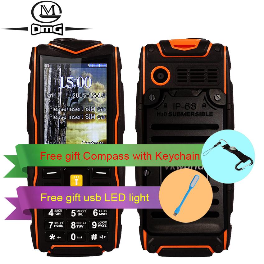 Russian keyboard IP67 waterproof Mobile phone 5200mAh battery Wireless FM shockproof flashlight Camera outdoor cell phones(China (Mainland))