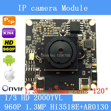 Buy 1.3MP 960P IP Camera module board 1280*960 CCTV Camera IP Chip Board 2.8mm lens wide angle 120degree night vision Pinhole CamerA for $30.80 in AliExpress store