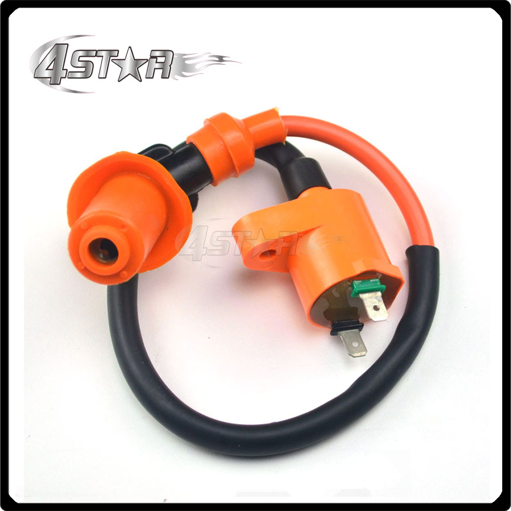 Ignition Coil High Spark Plug Wire CDI GY6 50cc 125cc 150cc Motorcycle Scooter ATV GoKart High Power Racing Street Bike(China (Mainland))