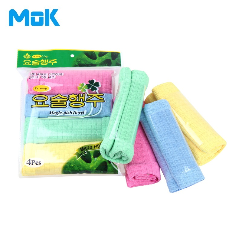 8 Pieces Super Absorbent Solid Microfiber Cleaning Cloth 30*40cm Kitchen Dish Washing Glass Towels Free Shipping(China (Mainland))