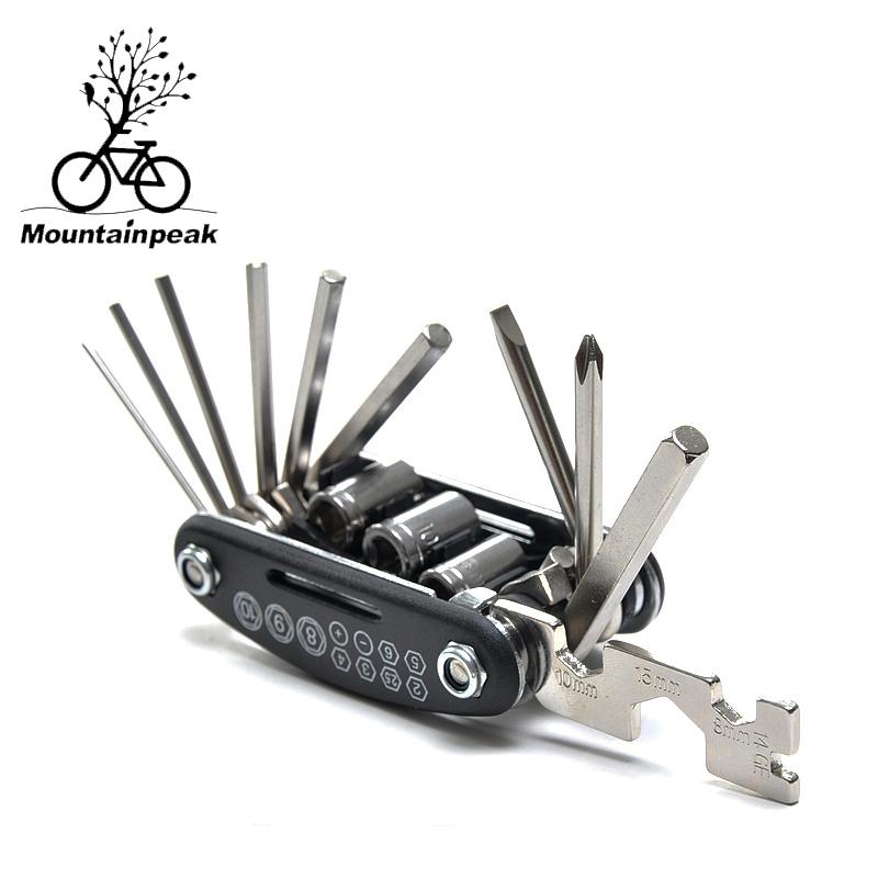 New Mountainpeak 15 in 1 combination repair kit mountain bike repair functional tool fold combination screwdriver kit(China (Mainland))