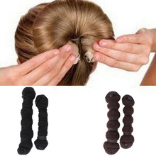 Hot Fashion 2015 2pcs/set Elegant Hair Styling Magic Style Bun Maker Hairstyle Updo DIY Tool 6F7A