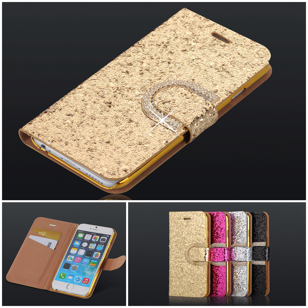 PU Leather Case for iphone 6 Flip With Flash cards & Lanyard Card Slots For iPhone 6 4.7 inch Back Cover(China (Mainland))