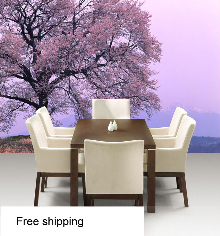 Free shipping3d tv background wall mural landscape vision for Mural vision tv