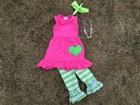 Popular boutique remake outfits for baby girls, girls ruffle pants outfits for persnickety, girls clothing sets cotton leggings