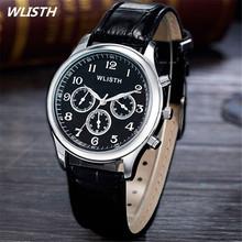 Top Luxury Brand WLISTH Casual Watch Men Sport Quartz Watches Men Leather Strap Waterproof Military Wristwatch Relogio Masculino
