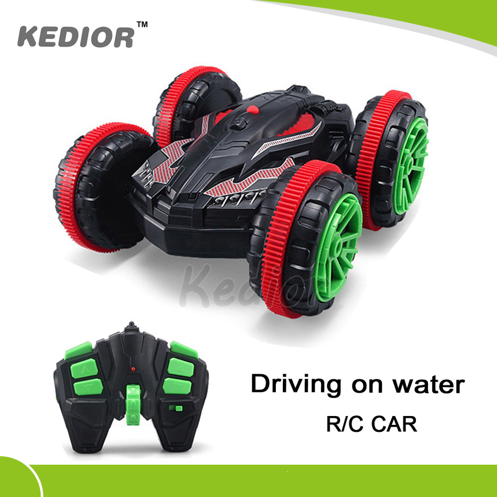 2016 Hot 1:18 2.4GHZ RC Stunt Car Driving on Water Remote Control Car Toy model with charging lipo battery(China (Mainland))