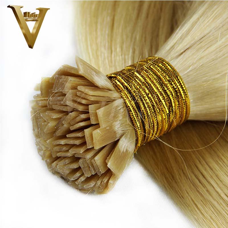 Pre Bonded Flat Tip Hair Extensions 1 Gram Strand Remy Human Keratin Hair 50G 100G 150G 200G(China (Mainland))