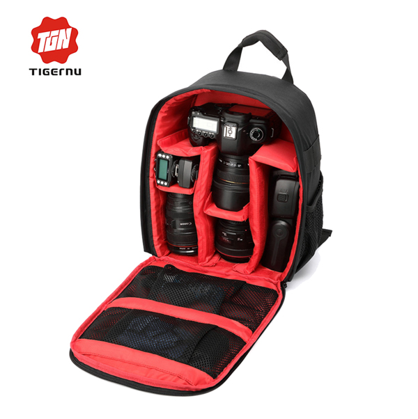 Free Shipping NEW&HOT SELL !!! High Quality Waterproof Mini DSLR Digital Photography Camera Backpack Bag with Free Gift(China (Mainland))