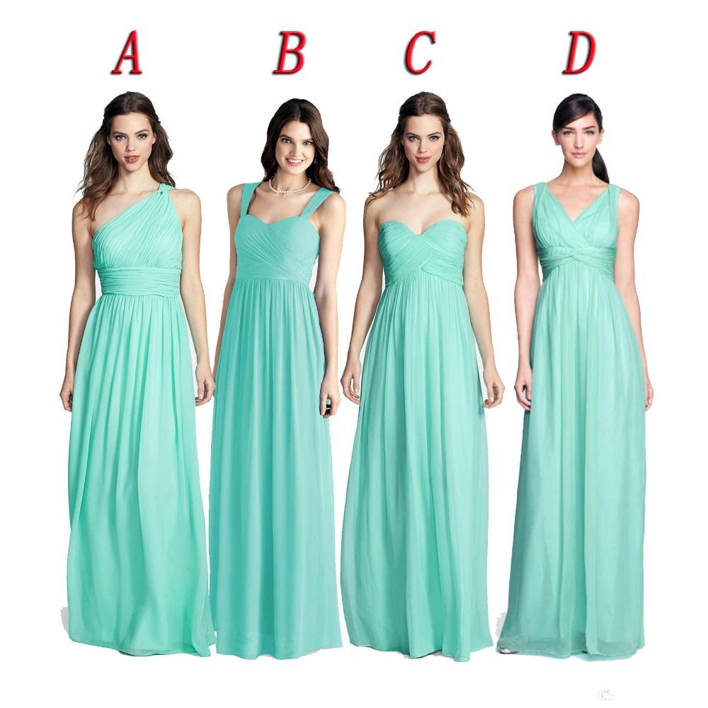 Plus Size Bridesmaid Dresses Aquamarine Blue - Dress images