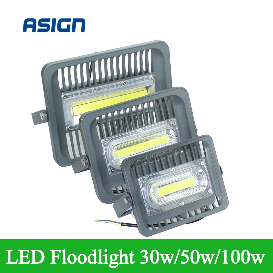 2016 New LED Flood Light 30W 50W 100W Black AC85-265V IP66 Waterproof Spotlight Lamp Outdoor Lighting Flood Lights(China (Mainland))
