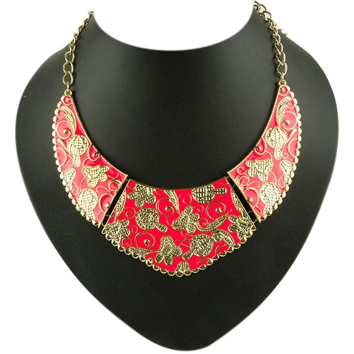 2014 Last fashion golden necklace chain Rhinestone love pendant vintage women LX075 - ABC Jewelry's store